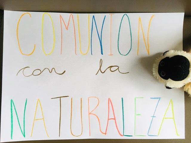 Cartel comunion con la naturaleza