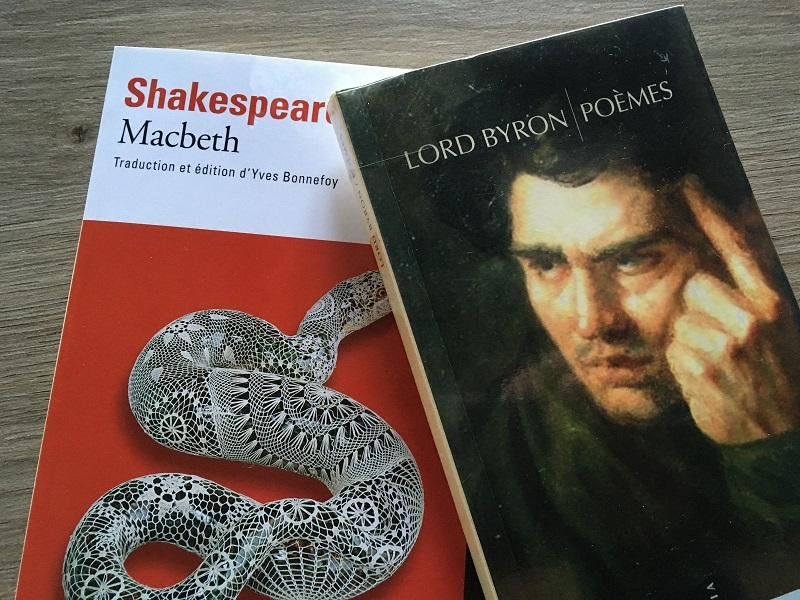 Libros de Shakespeare y Lord Byron